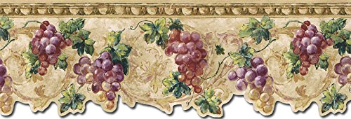 wall borders grapes - 5