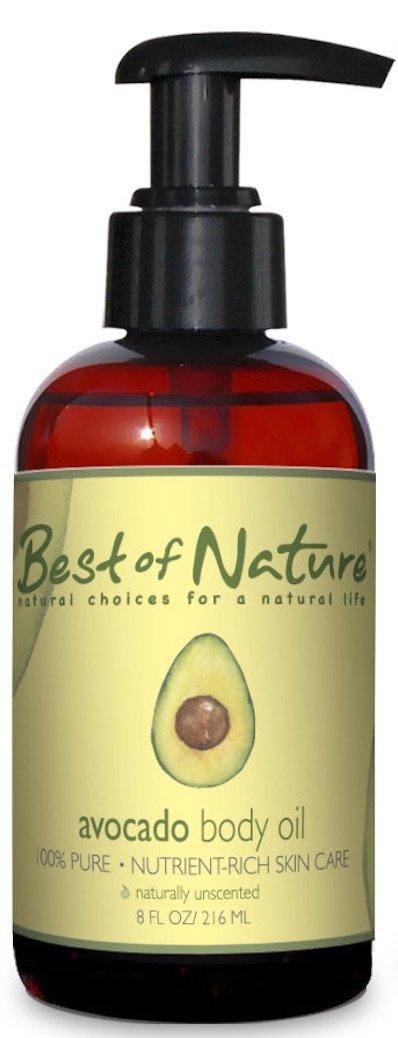 Avocado Body Oil - 8 oz - 100% Pure & Natural - For Body & Hair!