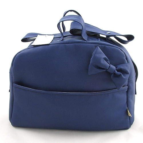 Bolso Polipiel Para Carro Bebe - Color Blanco Azul Marino – 4 bolsillos: Amazon.es: Zapatos y complementos