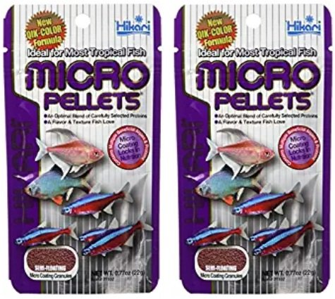 Hikari Tropical Semi-Floating Micro Pellets for Pets, 0.77-Ounce (2 Pack) ()
