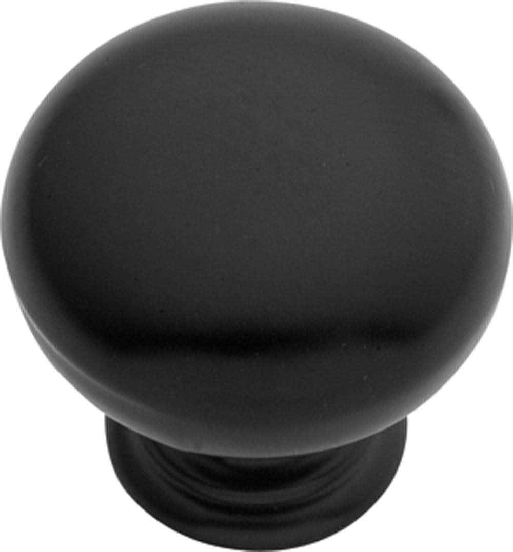 Hickory Hardware PA1217-MB 1-Inch Modus Cabinet Knob Matte Black