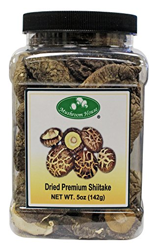 Mushrooms Fresh Wild (Mushroom House Dried Mushrooms, Shiitake, 5 Ounce)