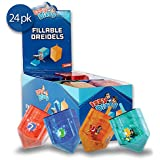Izzy 'n' Dizzy 24 Pack Fillable Dreidels - Medium - 3 x 2 Inch - Great for Chocolate Coins and Candy - Assorted Random Designs