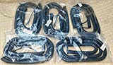 Lot of 5 Gray 25' Ft Phone Handset Cords for Cisco 7800 7900 8800 IP Series with 5'' Tail/Leader Charcoal 7940 7941 7942 7945 7960 7961 7962 7965 8811 8841 8845 8851 8861 (5 Pack) by DIY-BizPhones