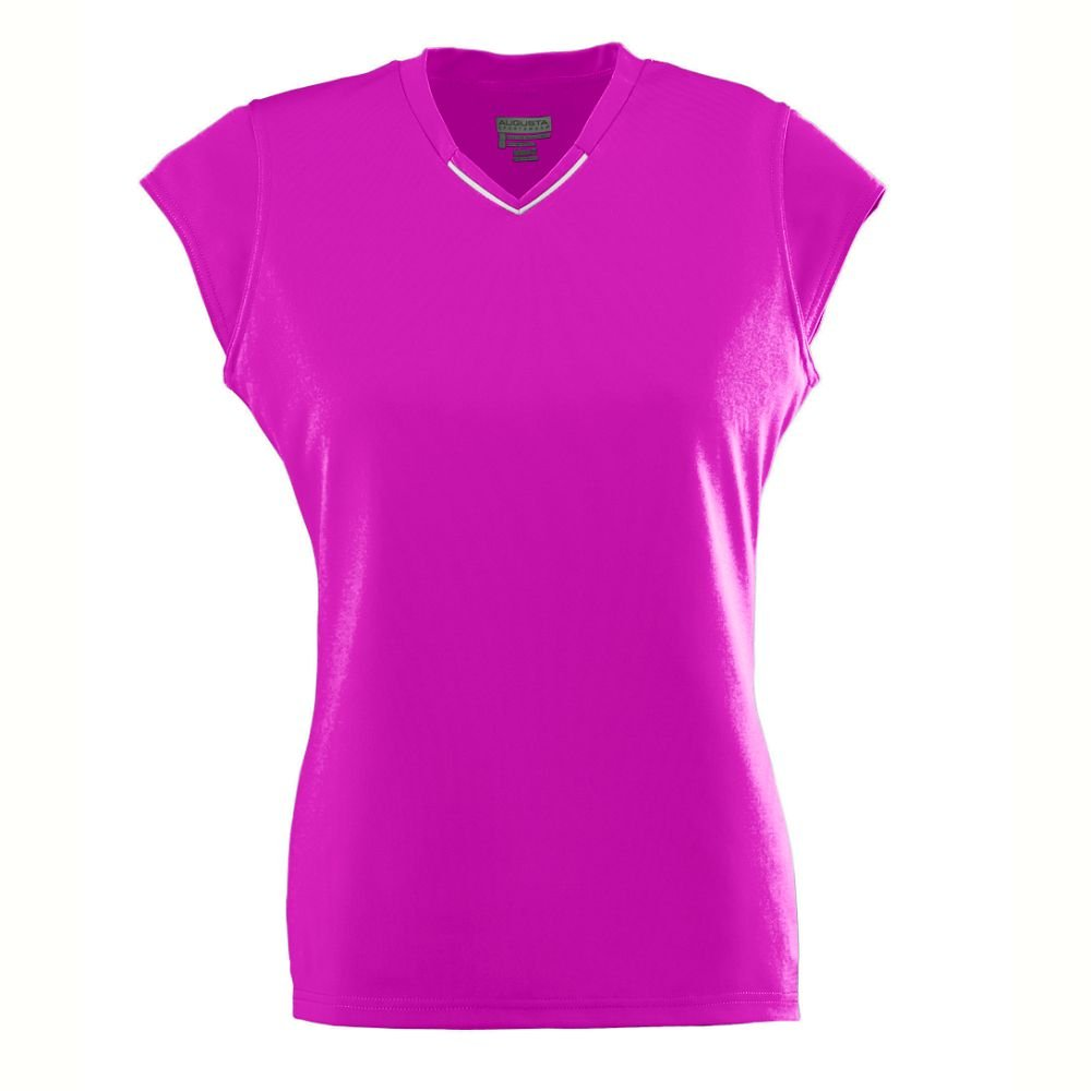 Ladies Wicking/Antimicrobial Rally Jersey - Power Pink - Small