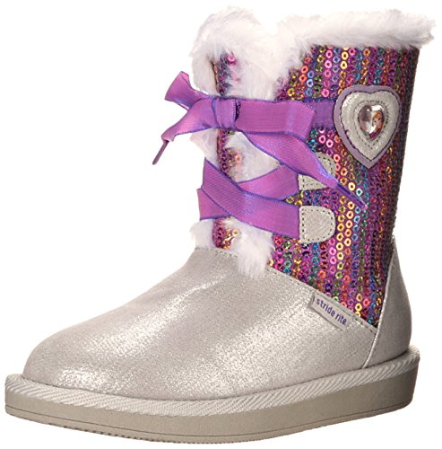 Stride Rite Baby Girl's Disney Frozen Cozy Boot (Toddler) Silver Boot 6 Toddler M ()