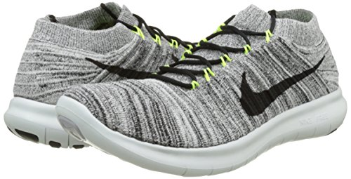 on sale 49c15 75e6b Nike Mens Free RN Motion Flyknit, WhiteBlack-Volt-Off White, 8. 5 M US  Buy Online at Low Prices in India - Amazon.in