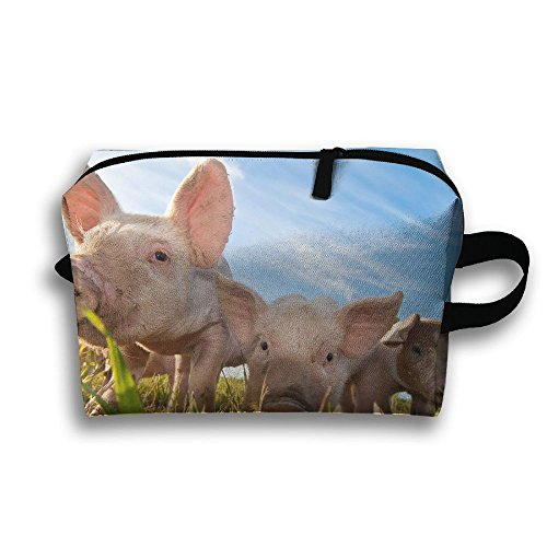 Pigs On Animal Farms Travel / Home Use Storage Bag, Carts Storage Space, Oxford Fabric Packing Bags, Organizers Cubes Set by JIEOTMYQ