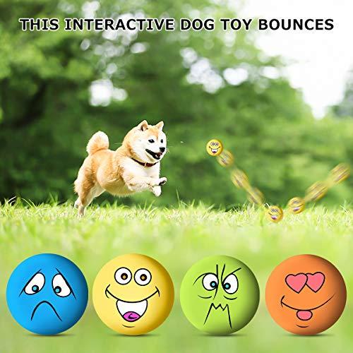 Play Medium Dog Latex Puppy Souple 6 Pets Couineur Pour Mâcher Chien Jouet Balles Cat Rapporter À nbsp;pcs Caoutchouc Jouets En Small Emoji Fq7pU