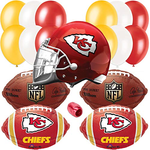 Kansas City Chiefs Helmet Playoffs Football Party 17pc Balloon Pack, Red -