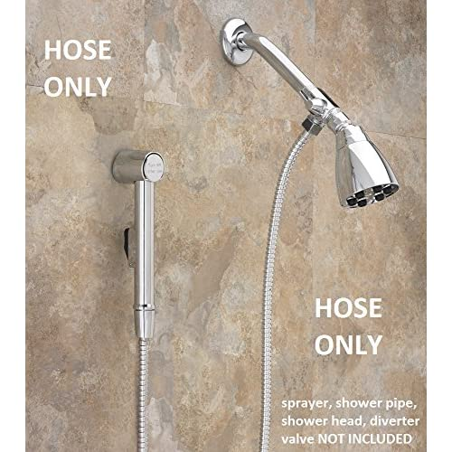 48-inch High-Pressure StayFlex Stainless Steel Bidet Spray Hose by Aquaus By RinseWorks 48-inch (4 foot) Designed to be Pressurized hot sale 2017