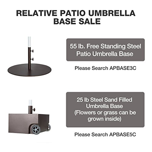 Abba Patio Sunbrella Patio Umbrella 9 Feet Outdoor Market Table Umbrella with Auto Tilt and Crank, Beige by Abba Patio (Image #5)