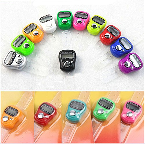 Worldoor® 10 Stitch Marker And Row Counter LCD Electronic Digit Tally Counter (Row Stitch)