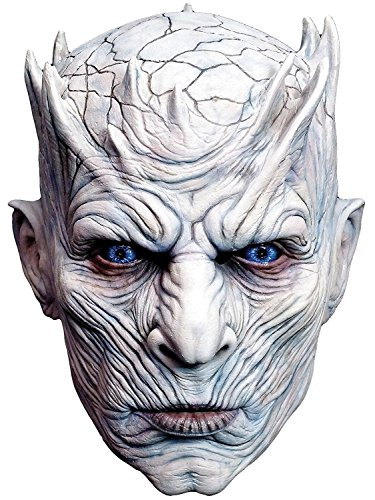 Price comparison product image Luckybuy168 Realistic Halloween Cosplay Mask Night's King White Walker Head Latex