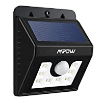 Mpow Solar Lights Motion Sensor Security Lights 3-in-1 Waterproof Solar Powered Lights Outdoor Lights