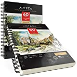 Arteza 5.5x8.5 inches Mixed Media Sketch Book, 60
