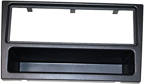 AERZETIX: Marco adaptador 1DIN cubierta plástica moldeado para el cambio de autoradio original con un radio estándar del coche vehículos automóvil: Amazon.es: Informática