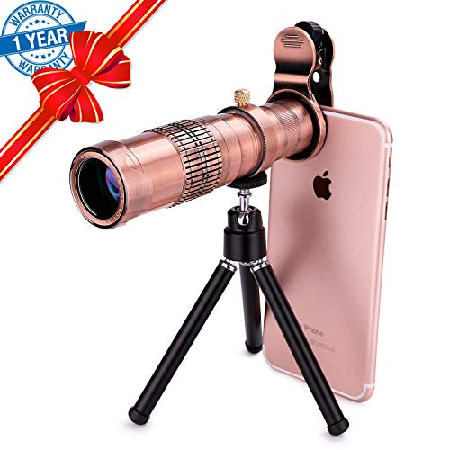 Phone Camera Lens, SEVENKA 22X Universal Zoom Telephoto Lens, Metal Clip On Cell Phone Lens for iPhone X/8/7//6s/6, Samsung S9/S8, Android, Smartphone