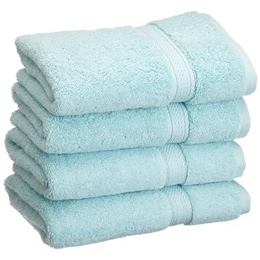 Superior 900 Gram Egyptian Cotton 4-Piece Hand Towel Set, Seafoam