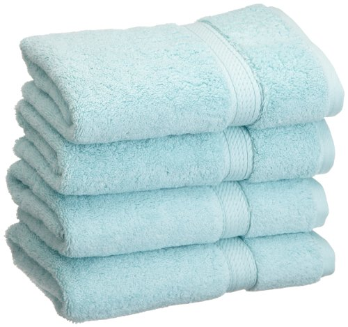 Superior 900 GSM Luxury Bathroom Hand Towels, Made Long-Staple Combed Cotton, Set of 4 Hotel & Spa Quality Hand Towels - Sea Foam, 20