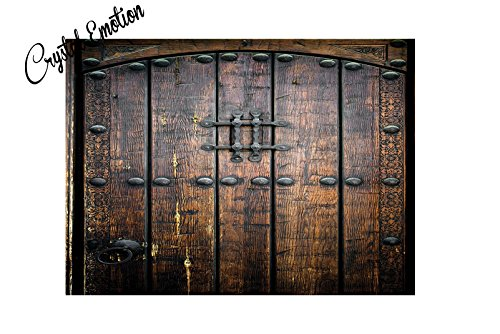 Crystal Emotion Rustic Ancient Wooden Door Historical Vintage doormat - Historical Crystal