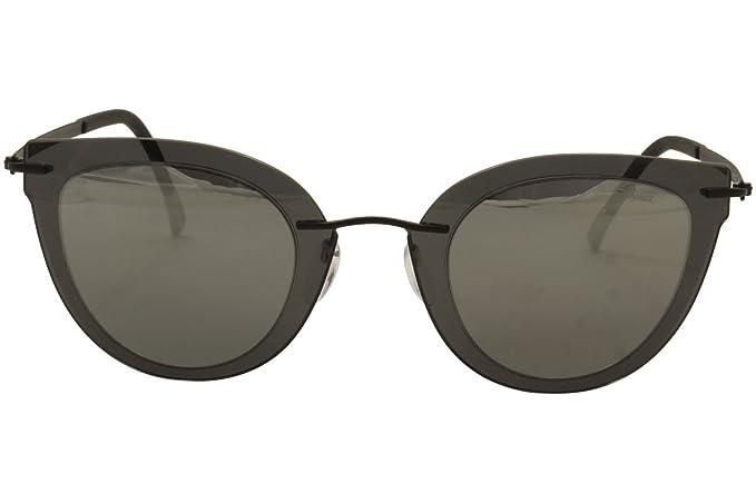 20b533b47d52 Amazon.com: Silhouette Explorer Line Extension 8155 6220 Grey/Black Cat Eye  Sunglasses 55mm: Clothing
