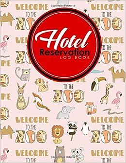hotel reservation log book guest house journal reservation log