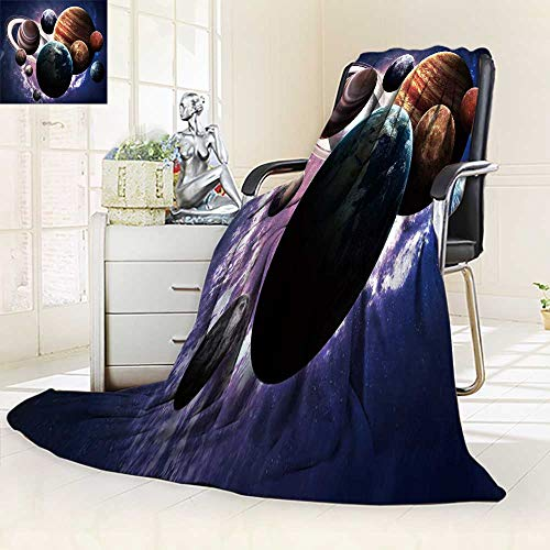 YOYI-HOME Premium Duplex Printed Blanket | Super Soft, Cozy E h High Resolution Images Presents Planets of The Solar System All Season for Couch or Bed/59 W by 79'' H by YOYI-HOME