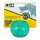 Pet Zone Rubber Dog Treat Ball Toy, Small
