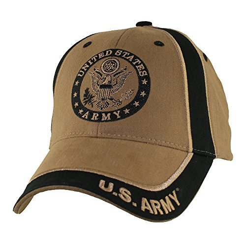 - U.S. Army Emblem Two Tone Baseball Hat, Coyote Brown,Large