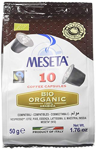 (Nespresso Compatible Meseta Coffee Capsules 100 Capsules of Gourmet Organic(European Certified) 100% Arabica Coffee Espresso Compatible with Nespresso Machine)