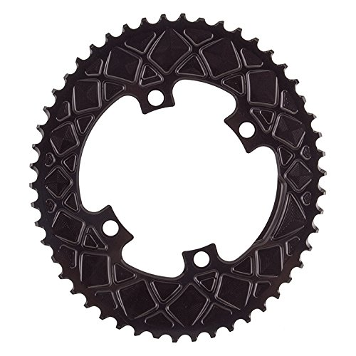 Absolute Black Chainring Absoluteblack Oval 110Mm 50T 4B 2X Black - ROV50/4BK by ABSOLUTE BLACK (Image #1)