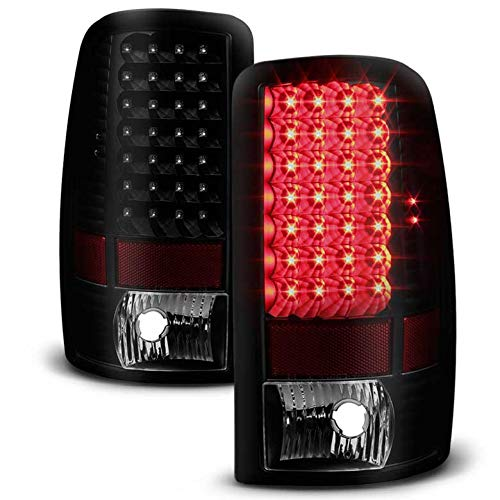 Xtune 2000-2006 Suburban, Tahoe, Yukon Black Smoked LED Tail Lights w/LED Signal Pair L+R 2001 2002 2003 2004 2005