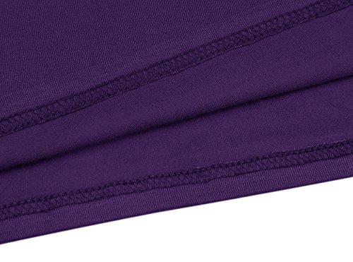 JOSIFER T Pleated Casual with Loose Sleeve Sleeveless Dress Short purple Swing Pockets amp; R Shirt Women's rCxqwzYr