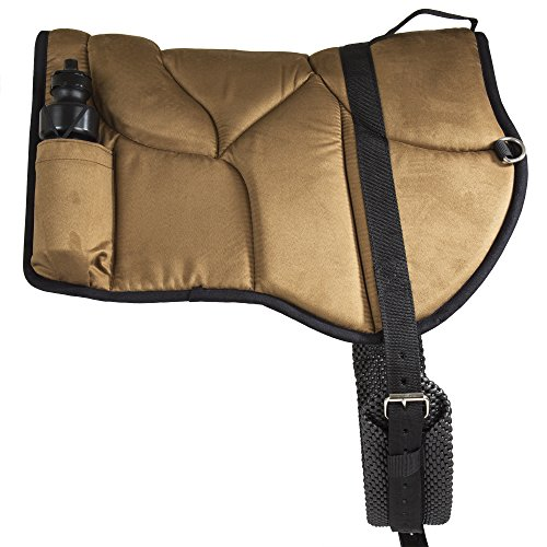 - Best Friend Western Style Bareback Saddle Pad, Brown/Black