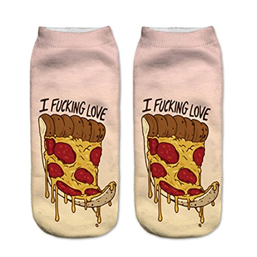 Doxi Supermall Women Pizza Patten Harajuku Cotton Ankle - The Supermall