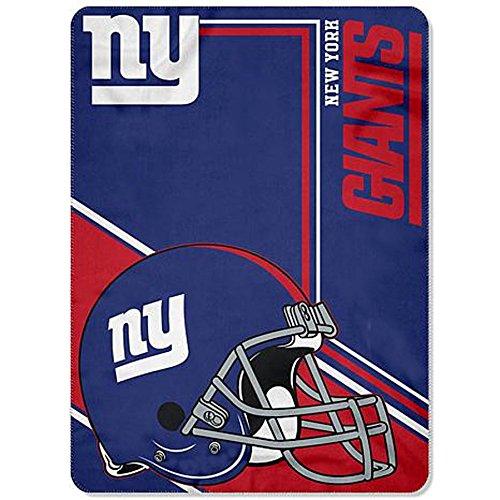 New York Giants blanket 66x90 XXL NFL NY Giants fleece throw bedding lightweight ()