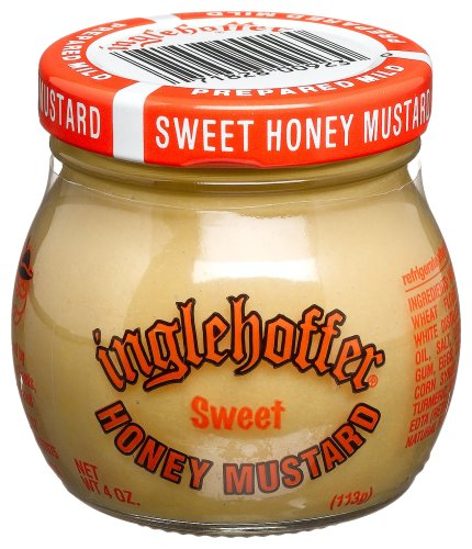 Inglehoffer Mustard, Sweet Honey, 4-Ounce Jars (Pack of 12)