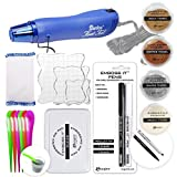 Ultimate Embossing Bundle - Multi-Purpose Heat Tool, White, Silver, Copper, Gold Embossing Powder, Emboss-it Pens and Ink Pad, Embossing Magic Pad, 3X Acrylic Stamp Blocks, Craft Scoops