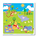 Disney Pooh Floor Topper Disposable Mess Mats – 5-count, Baby & Kids Zone