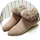 Best Minitoo Platform Heels - Pointed Toe Boots Chunky Heels Shoes Suede Plush Review