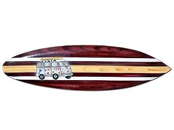 Seestern Sportswear FBA_1658 - Tabla de Surf (Madera, 100 cm de Longitud), diseño de Surf: Amazon.es: Juguetes y juegos