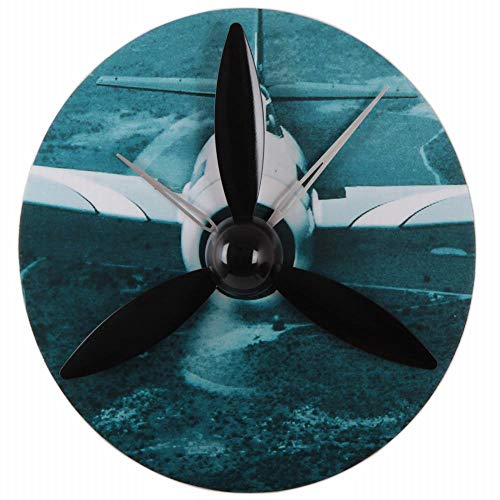 FUBON-US Clocks for Living Room Decor Aircraft Model Gear Clock, Wood Wall Clock Propeller Wing Wing Clock Personality Creative Gifts (Color : 3) ()
