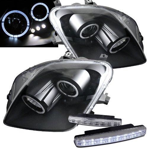Prelude Projector Led (2000 Honda Prelude Headlights Projector Dua Halo + 8 Led Fog Bumper Light)