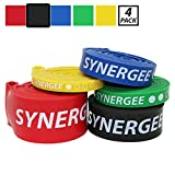 Synergee Black 50 - 120lbs Pull Up Assist Bands - Heavy Duty Resistance Bands - Power Band Resistance Loop Exercise Bands Mobility & Powerlifting Bands - Perfect for Stretching & Resistance Training