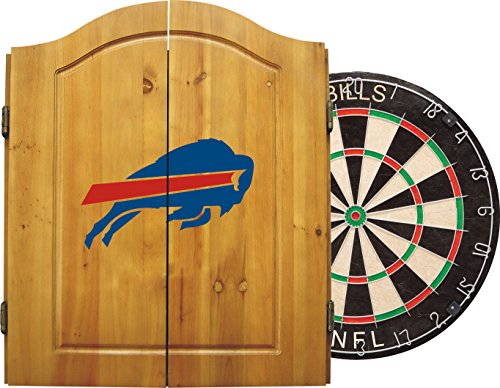 Imperial Officially Licensed NFL Merchandise: Dart Cabinet Set with Steel Tip Bristle Dartboard and...