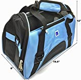 IrisPets Pet Airline Travel Approved Airport Pet Carrier, Soft Sided Portable Folding Under Seat Air Travel Pet Carriers Bag for Small Puppy/Cats Small Animals - Blue