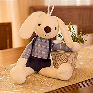 Bunny Soft Plush Toy Long-eared Rabbit Stuffed Animal Baby Kids Gift Animal Doll