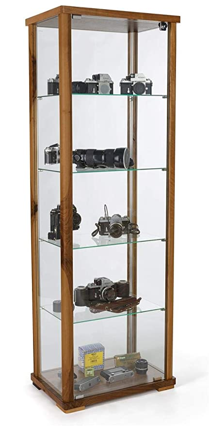 Strange Amazon Com Displays2Go Full Glass Narrow Curio Cabinet With Download Free Architecture Designs Embacsunscenecom