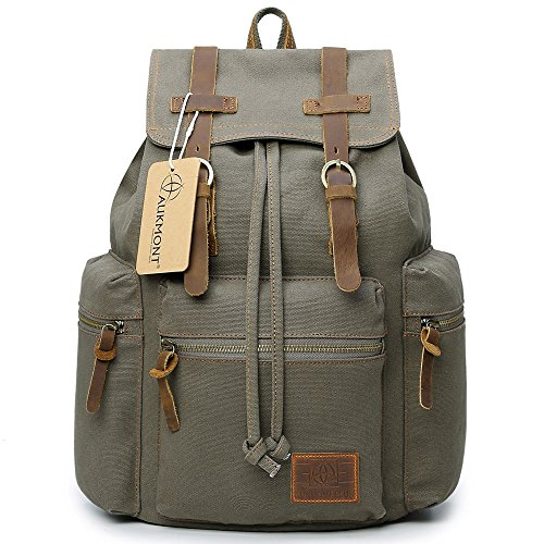 Unisexs Travel Hiking Backpack Waterproof Material (Army green) - 3